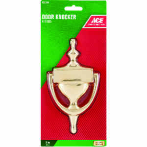 Ace  7 in. L Brass  Door Knocker