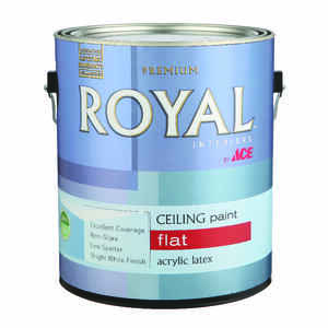Ace  Royal  Flat  White  Latex  Ceiling Paint and Primer in One  Indoor  1 gal.