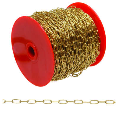 Campbell Chain  No. 3  Brass Plated  Gold  Brass  Hobby/Craft Chain  3/64 in. Dia. 0.3 in.