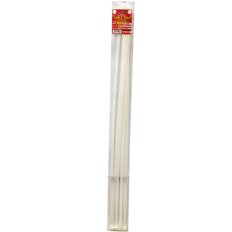 Tool City  40 in. L White  10 pk Cable Tie