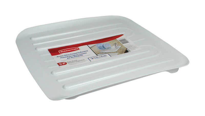 Rubbermaid  1.3 in. H x 15.3 in. W x 14.3 in. L Plastic  Dish Drainer  White