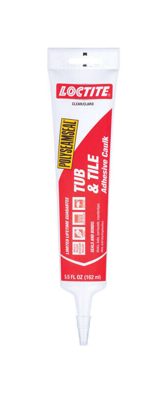Loctite  Polyseamseal  Clear  Acrylic Latex  Adhesive Caulk  5.5 oz.