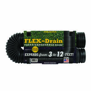 Flex-Drain  12 ft. L x 4 in. Dia. x 15 in. Dia. Poly  Drain Pipe