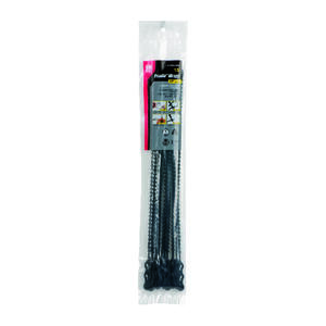 Gardner Bender  12 in. L Black  Beaded Cable Tie  15 pk
