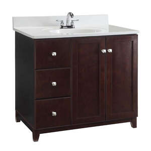 Design House  Single  Dark  Vanity Cabinet  33 in. H x 36 in. W x 21 in. D