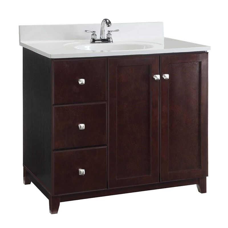 Design house single dark vanity cabinet 33 in h x 36 in w x 21 in d ace hardware for Home hardware bathroom vanities