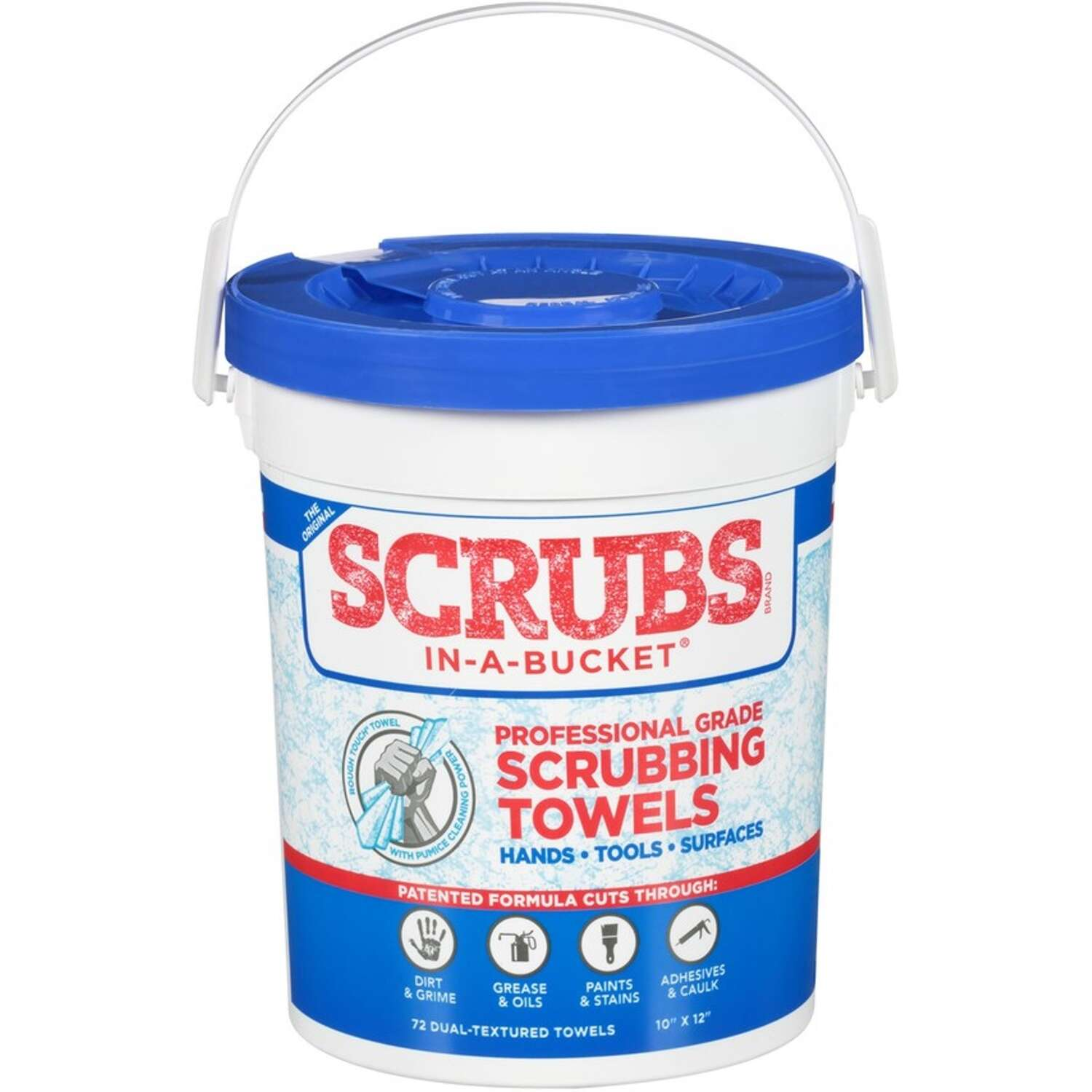 Scrubs 12 in. L x 10 in. W Scrubbing Towels 72 pk