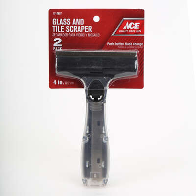Ace  4 in. W High Carbon Steel  Glass and Tile Scraper Kit