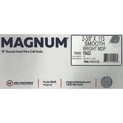 Magnum Pro 2-3/8 in. Angled Coil Nails 15 deg. Smooth Shank 4500 pk