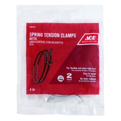 Ace  3 in. to 4 in. Silver  Spring Tension Clamps  Metal