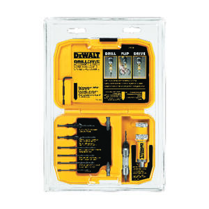 DeWalt  Steel  Drill Drive Set  5/16 in. Hex Shank  12 pc.