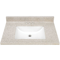 Continental Cabinets  Mesa  Single  Gloss  Vanity Top  31 in. W x 22 in. D x 4.75 in. H