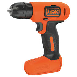 Black and Decker  8 volt 3/8 in. Brushed  Cordless Drill  Kit (Battery & Charger)