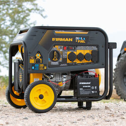 Firman  7500 watt 120/240 volt Propane and Gas  Portable  Generator