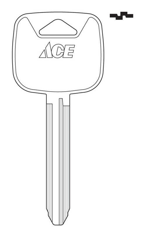 Ace  Automotive  Key Blank  Double sided For Toyota