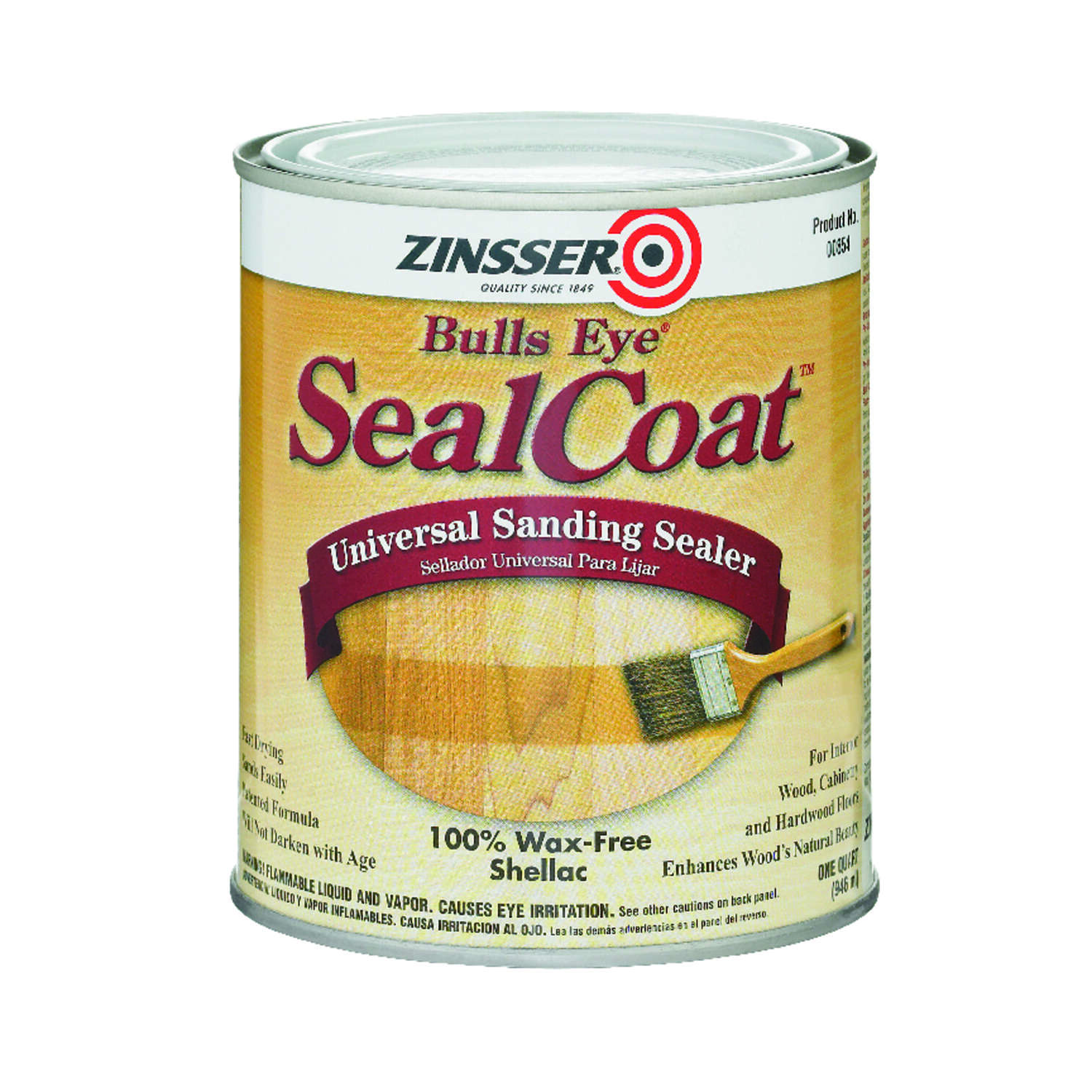 Zinsser  Bulls Eye SealCoat  Clear  Oil-Based  Sanding Sealer  1 qt.