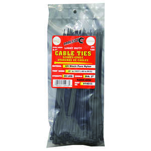 Tool City  8.1 in. L Cable Tie  100 pk Black