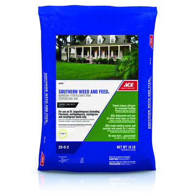 Ace  Weed & Feed  29-0-2  Lawn Fertilizer  5000 sq. ft. For Southern Grasses