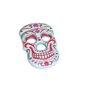 Swimline  Multi/White  Vinyl  Inflatable Sugar Skull  Pool Float