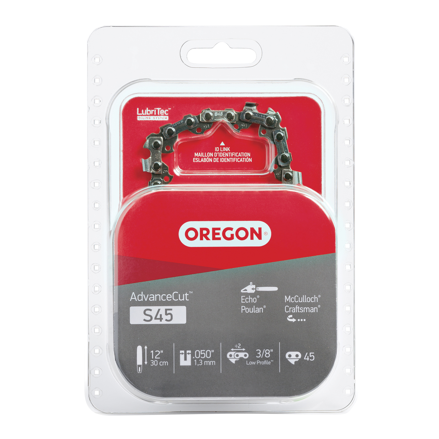 Oregon  12 in. L 45 links Chainsaw Chain