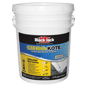 Black Jack  Premium  Gloss  Bright White  Waterproofing Silicone  Roof Coating  5 gal.