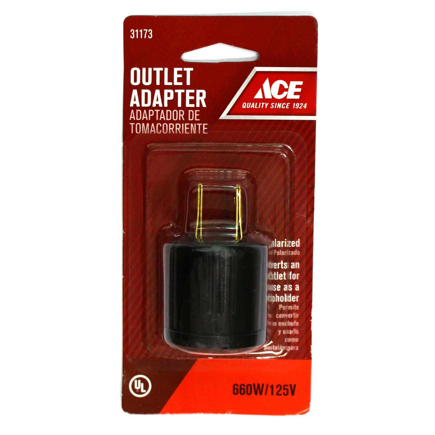 Ace  Polarized  1  Outlet To Keyless Socket  1 pk Surge Protection