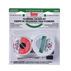 Oatey Safe-Flo 8 oz. Lead-Free Plumbing Solder Kit Silver Bearing 50/50 2 pc.