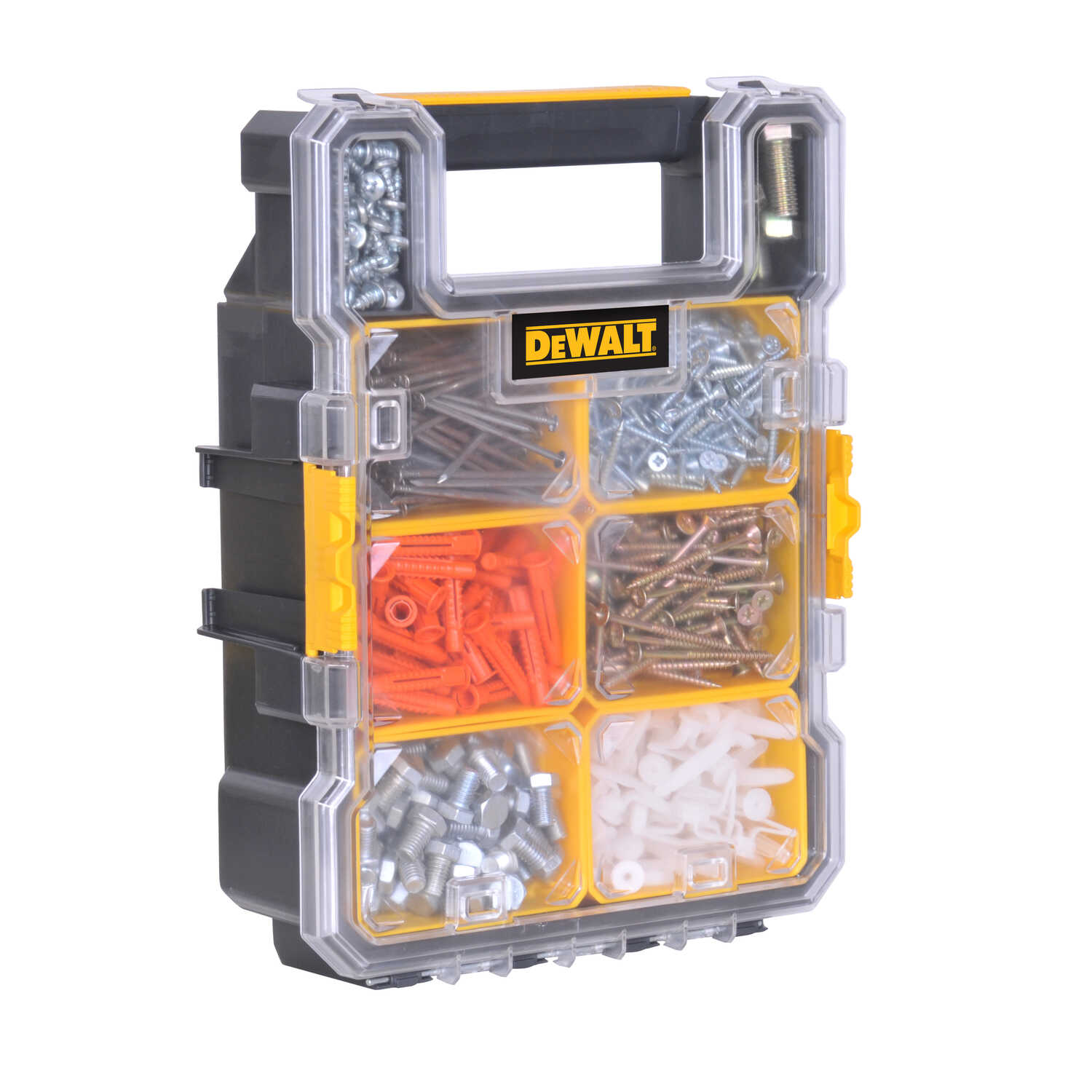 DeWalt  13.845 in. L x 10.179 in. W x 4.368 in. H Storage Organizer  Plastic  8 section Yellow