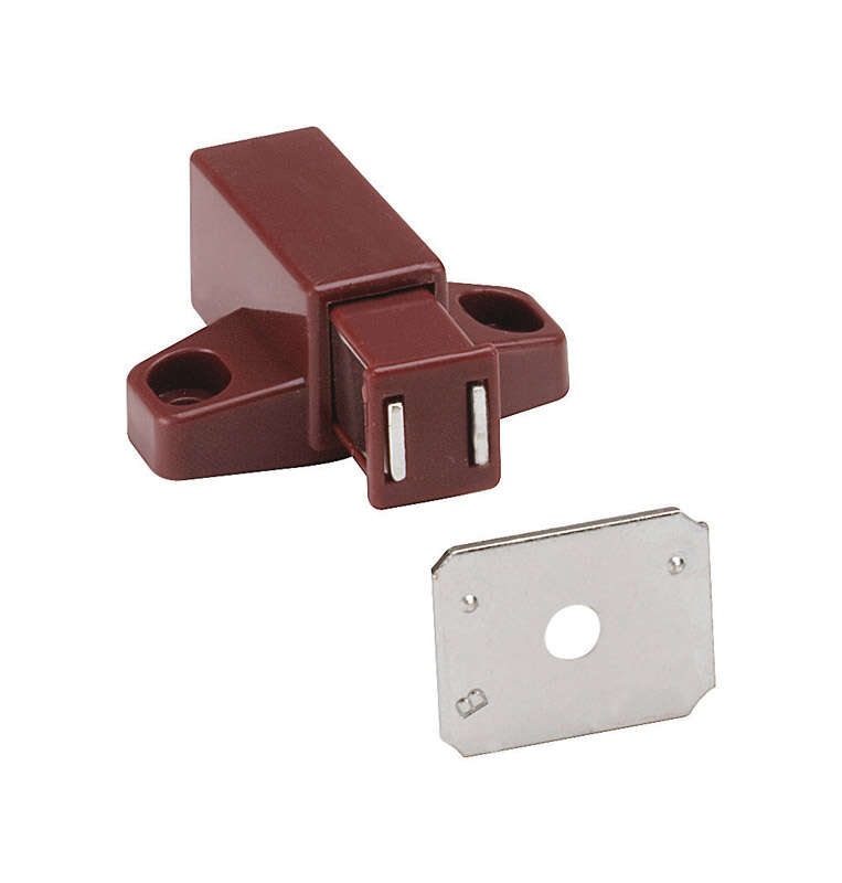 Amerock  Brown  Steel  Magnetic Latch  1 pk