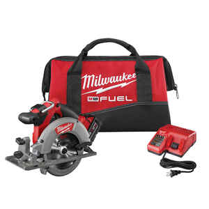 Milwaukee  M18 FUEL  18 volt 5 amps Brushless Cordless  Circular Saw  Kit Heavy-Duty  6-1/2 in. 5000