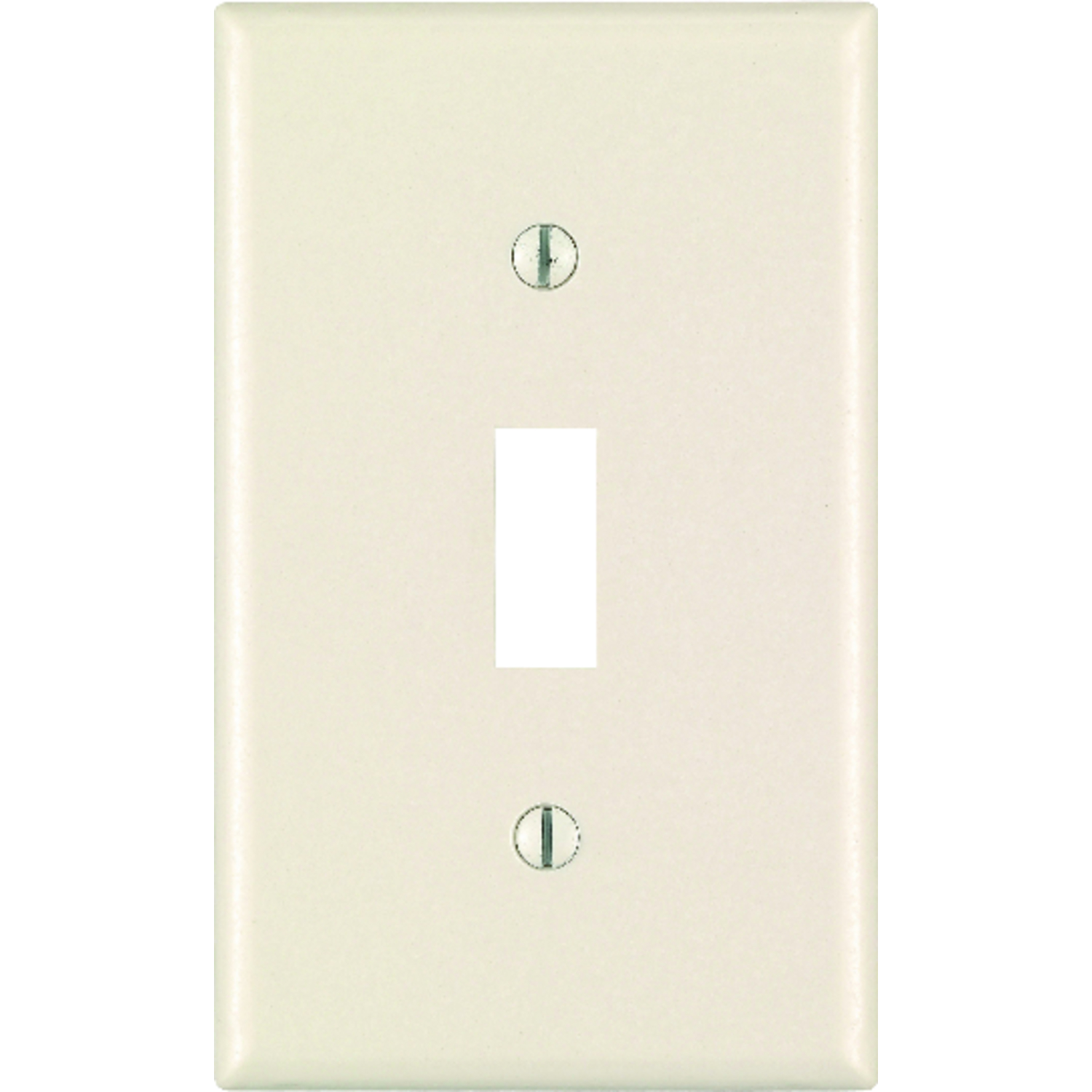 Leviton  Almond  1 gang Plastic  Wall Plate  1 pk Toggle