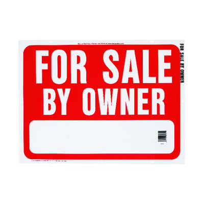Hy-Ko  Real Estate  English  Red  Informational  Sign  18 in. H x 24 in. W