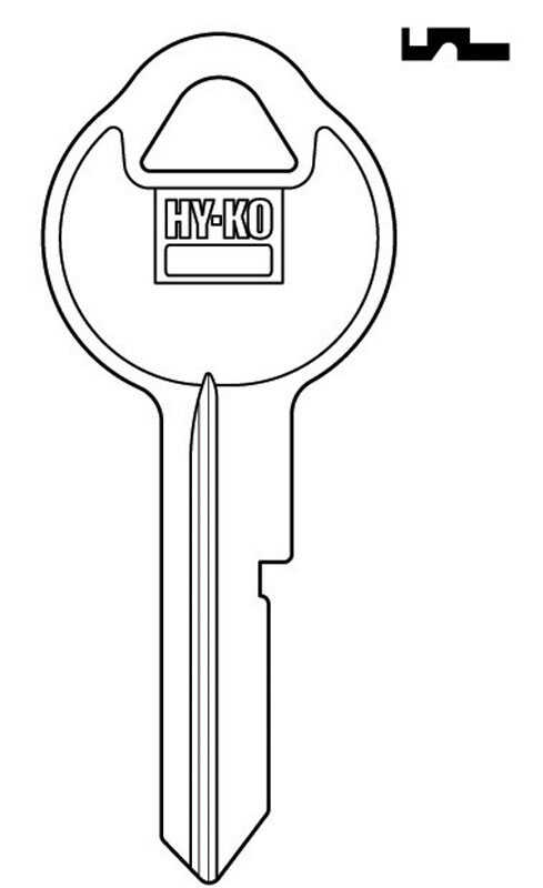 Hy-Ko  Automotive  Key Blank  EZ# B11  Single sided For Fits 1940-1966 Trunk/Door/ Gloveboxes