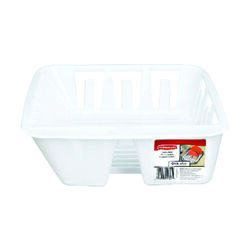 Rubbermaid  4.5 in. H x 12.6 in. W x 13.9 in. L Plastic  Dish Drainer  White