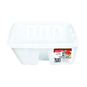Rubbermaid  12.6 in. W x 4.5 in. H x 13.9 in. L Plastic  Dish Drainer  White