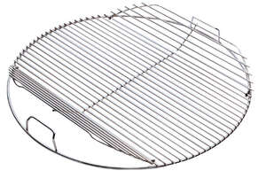 Weber  Hinged  Plated Steel  Grill Cooking Grate  2 in. H x 21.5 in. W x 21.5 in. L