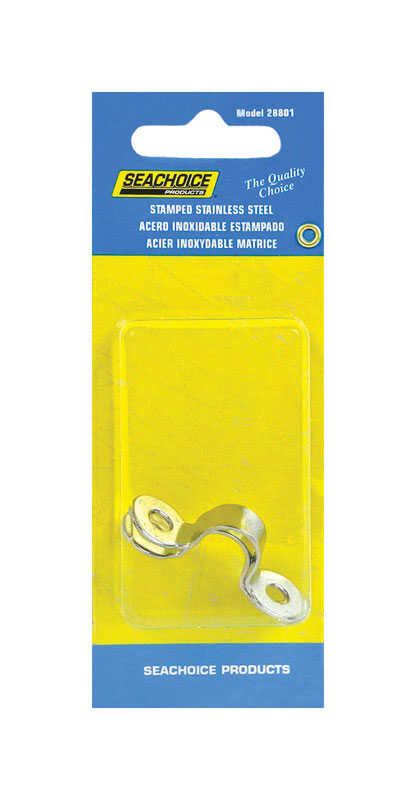 Seachoice  3/8 in. W x 1-5/8 in. L 2 pc. Eye Straps  Stainless Steel