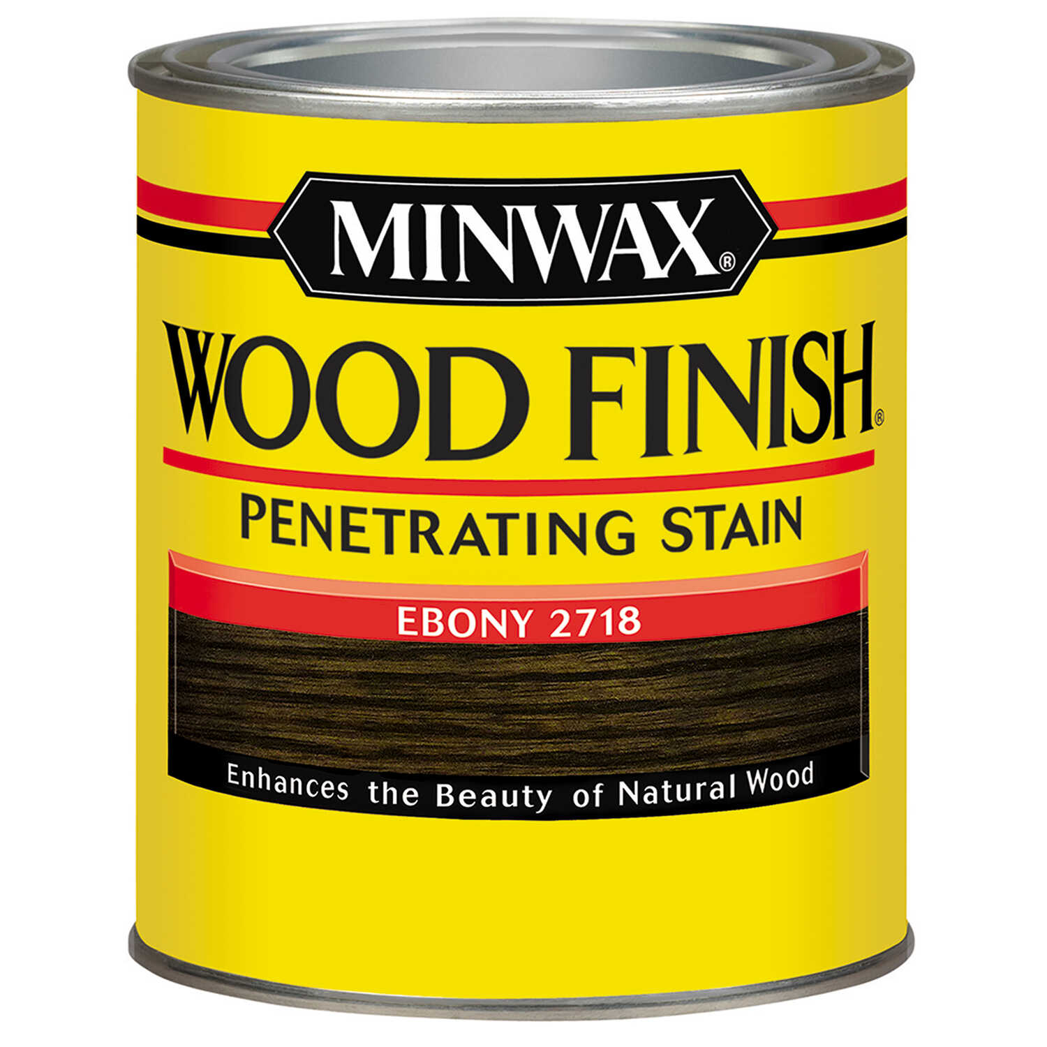 Minwax  Wood Finish  Semi-Transparent  Ebony  Oil-Based  Wood Stain  0.5 pt.