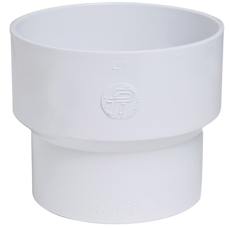Plastic Trends  SDR35/3034  4 in. Hub   x 3 in. Dia. Hub  PVC  Reducing Coupling