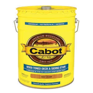 Cabot  Transparent  3002 Cedar  Oil-Based  Penetrating Oil  Deck and Siding Stain  5 gal.