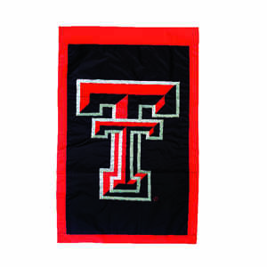 Evergreen  Texas Tech  Flag  44 in. H x 28 in. W
