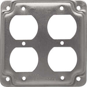 Raco  Square  Steel  2 gang Box Cover  For 2 Duplex Receptacles