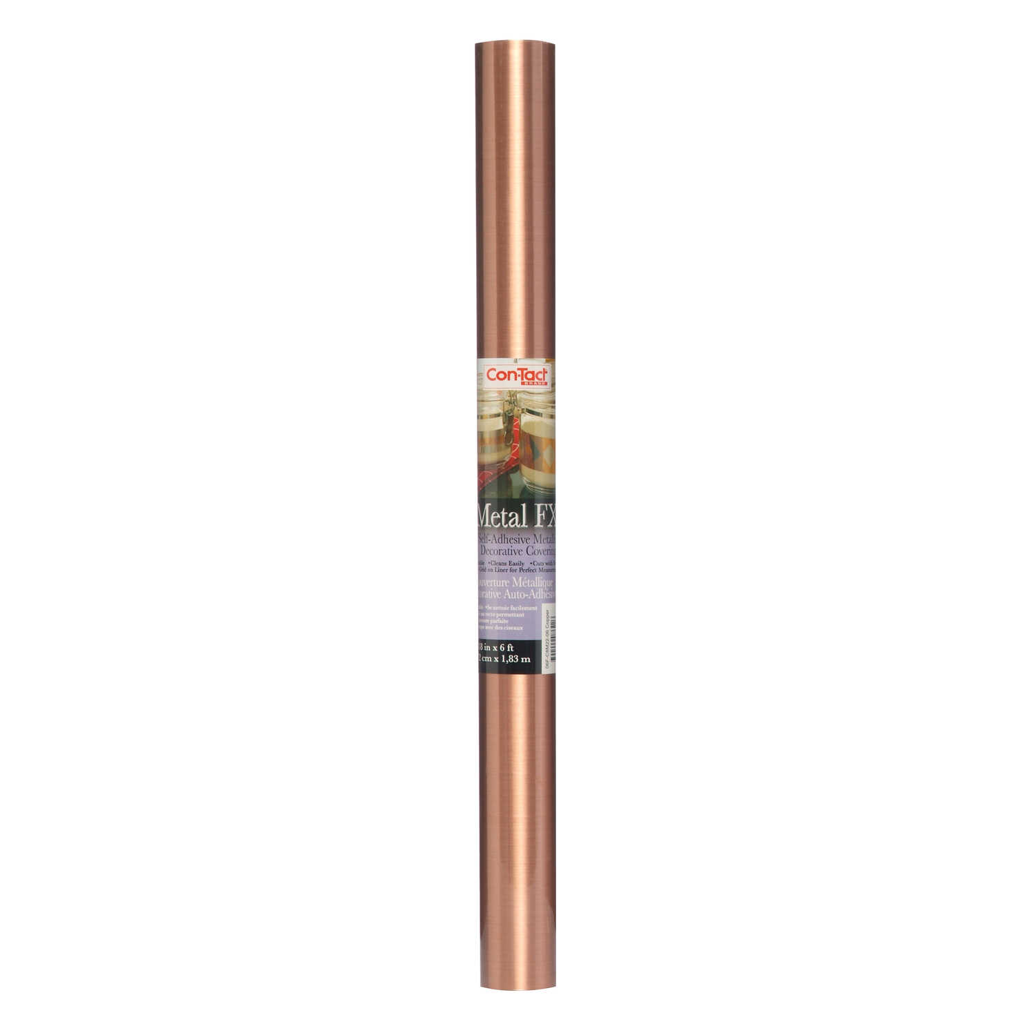 Con-Tact  Metal FX  6 ft. L x 18 in. W Copper  Self-Adhesive  Liner