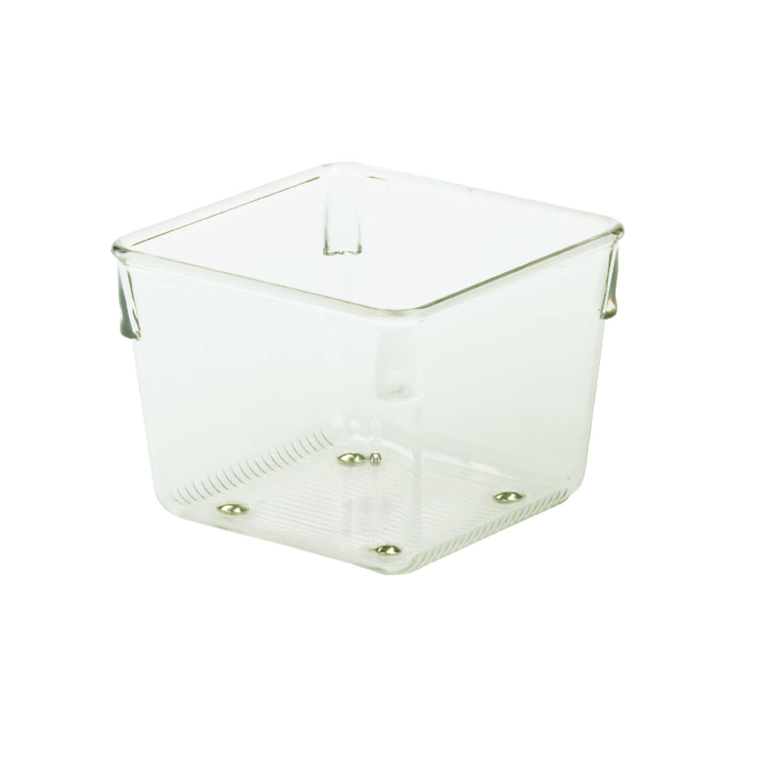 InterDesign  3 in. H x 4 in. W x 4 in. L Clear  Plastic  Drawer Organizer