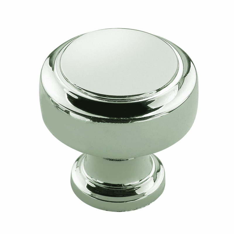 Amerock  Highland Ridge Collection  Knob  1-3/16 in. Dia. 1-1/4 in. 1 pk Polished Nickel