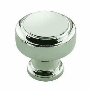 Amerock  Highland Ridge Collection  Round  Cabinet Knob  1-3/16 in. Dia. 1-1/4 in. Polished Nickel