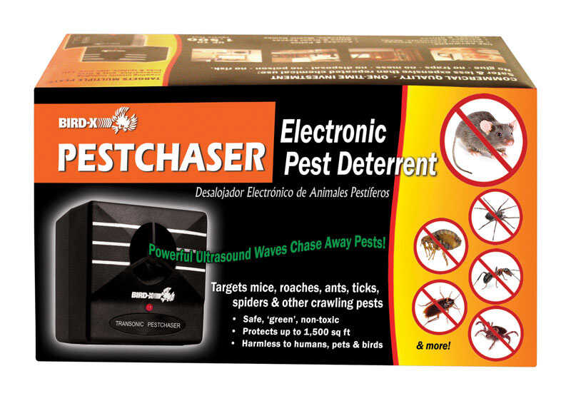 Bird-X  Transonic Bugchaser  Insect Repellent Device  Cartridge  For Spiders, Ants, Variety of Insec