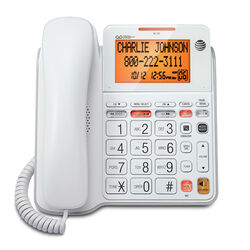 AT&T  Digital  White  Big Button Telephone  Built In Answering Machine 1 Number of Handsets