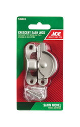 Ace Silver Brass Window Lock 1 pk