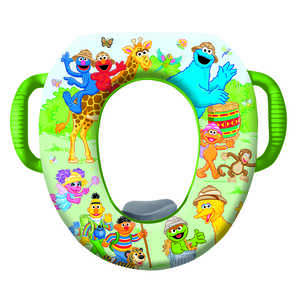 Ginsey  Sesame Street  Round  Soft  Child's Toilet Seat